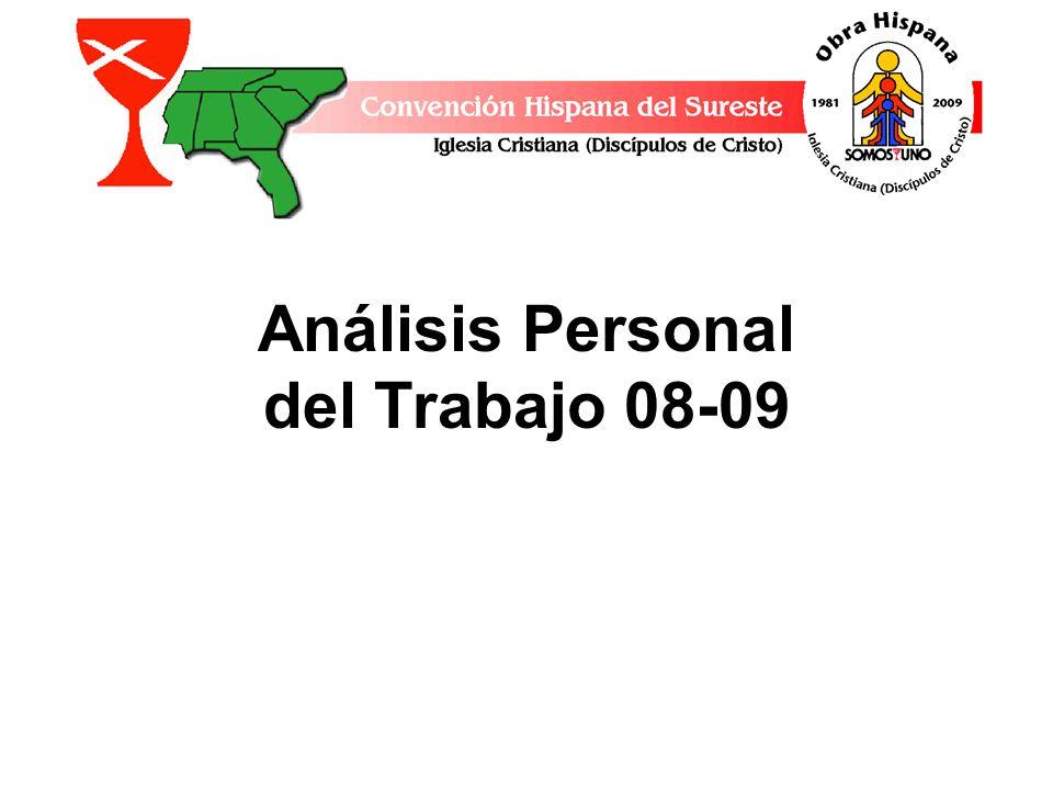 Análisis Personal del Trabajo 08-09