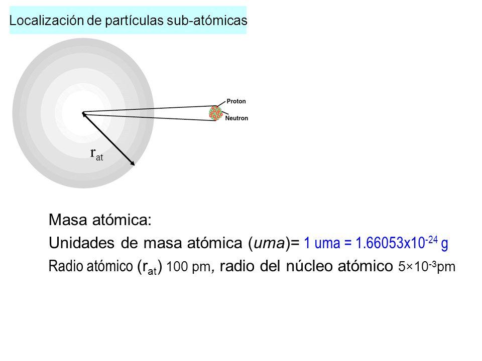 >Todos los átomos de un elemento tienen el mismo número de protones, número al cual se le denomina NUMERO ATOMICO.(Z) >Átomos de un mismo elemento que difieren en el número de neutrones, y por tanto en su masa, se denominan ISOTOPOS.
