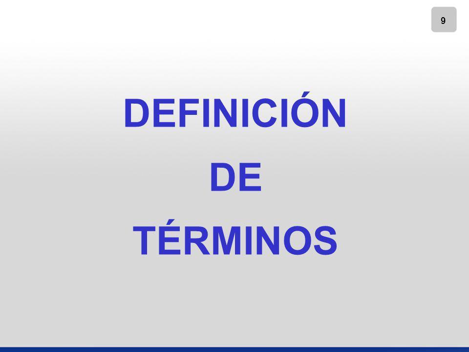 9 DEFINICIÓN DE TÉRMINOS