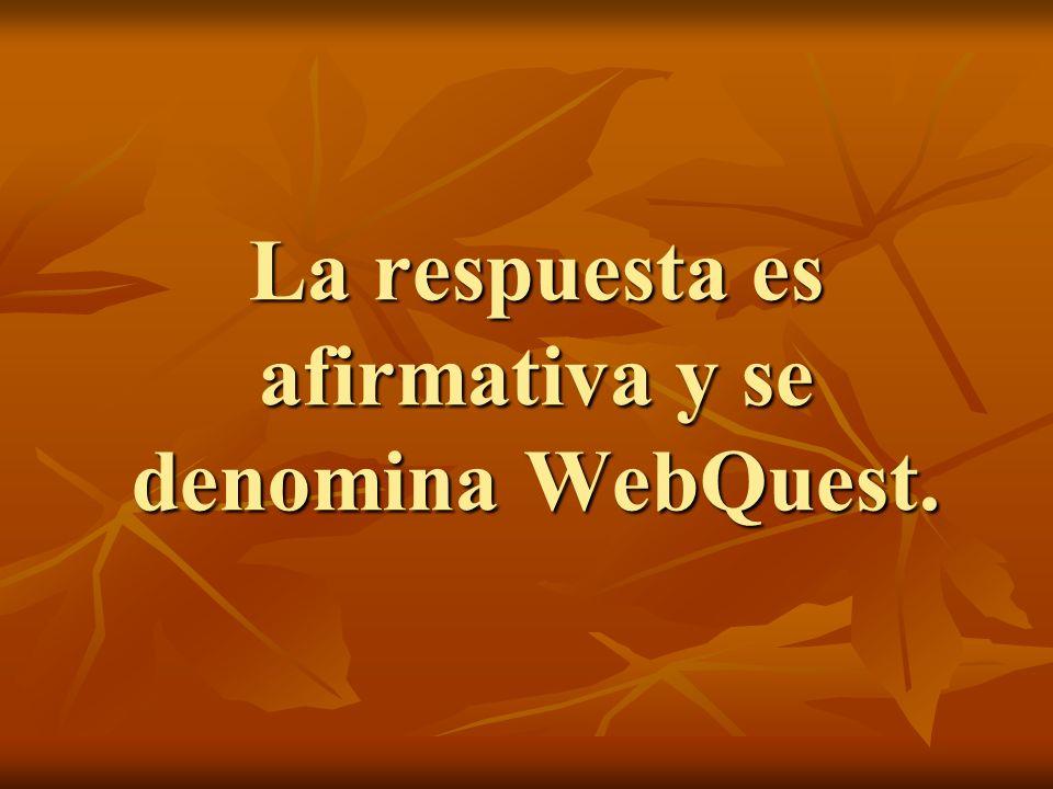 La respuesta es afirmativa y se denomina WebQuest.