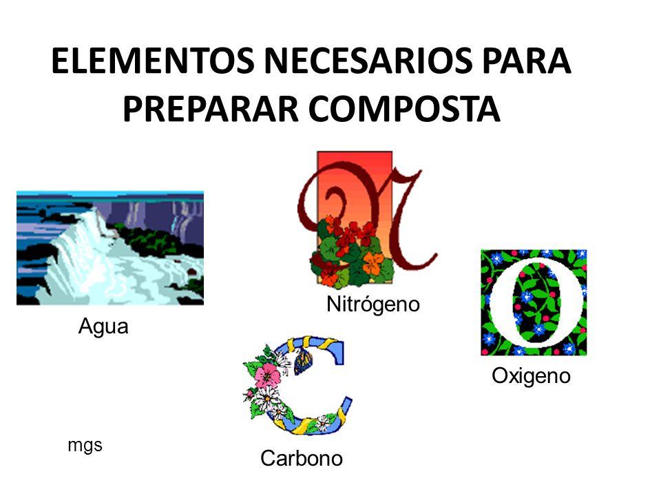 Composta producida por organismos y microorganismos mgs