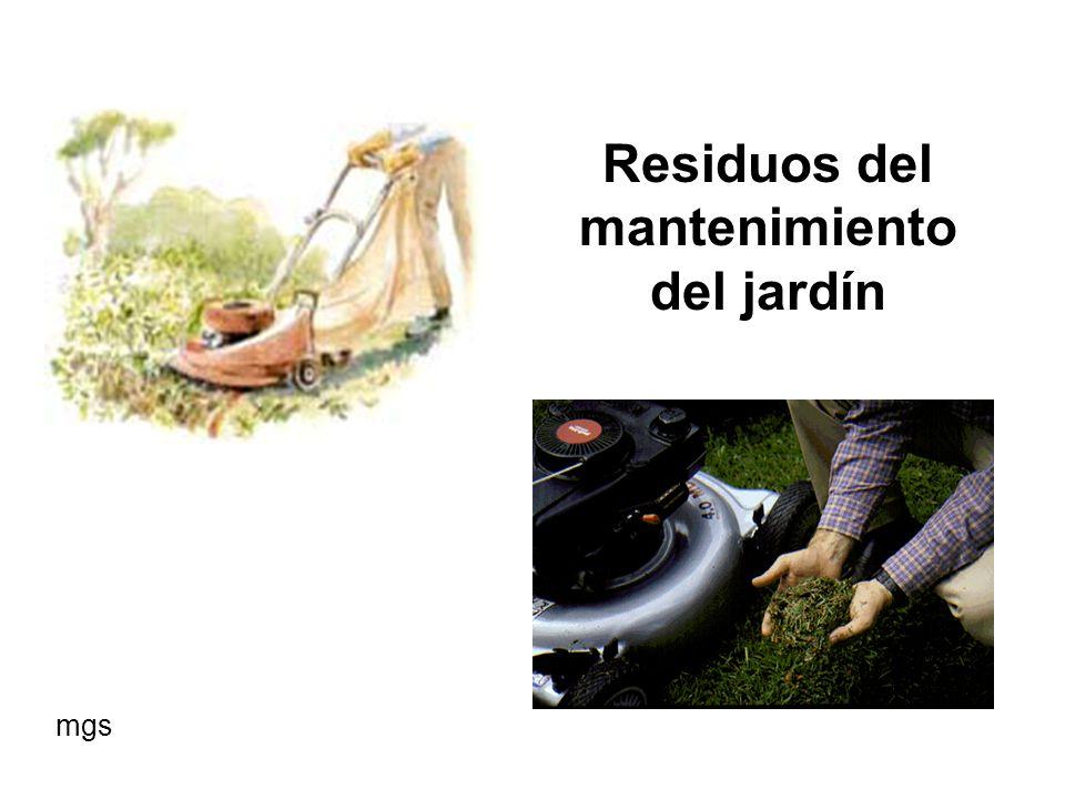 Residuos de ramas y hojas de poda de árboles y arbustos mgs