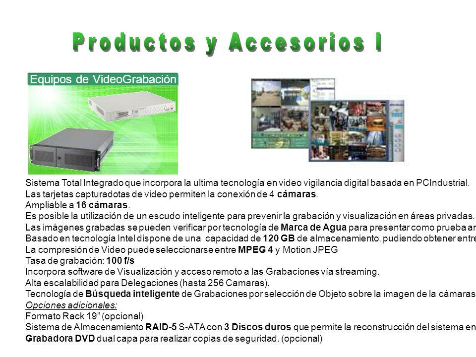 Equipos de VideoGrabación Sistema Total Integrado que incorpora la ultima tecnología en video vigilancia digital basada en PCIndustrial. Las tarjetas