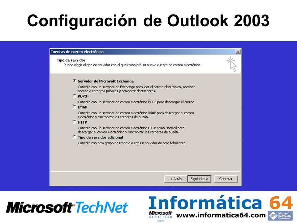 Configuración de Outlook 2003