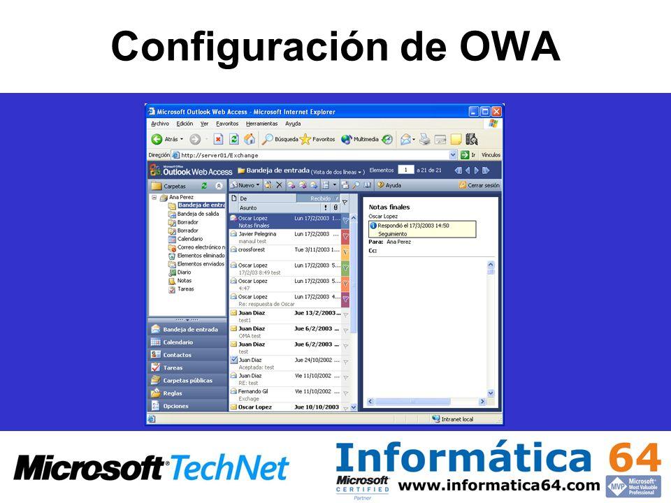 Configuración de OWA