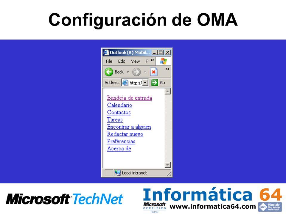 Configuración de OMA