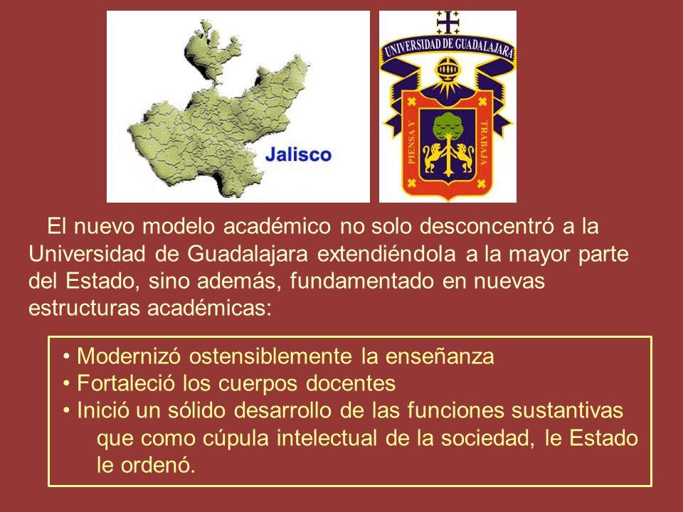 Estas modalidades comenzaron a desarrollarse en la Universidad de Guadalajara a raíz de la Reforma Académica impulsada por el entonces Rector Licenciado Raúl Padilla López.