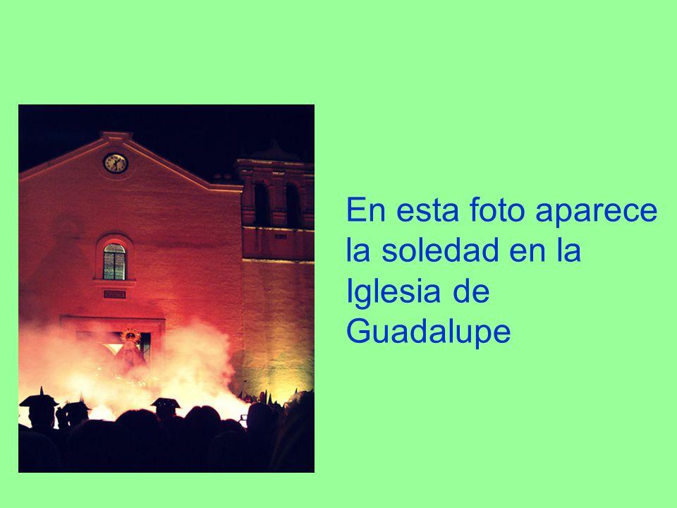 En esta foto aparece la soledad en la Iglesia de Guadalupe