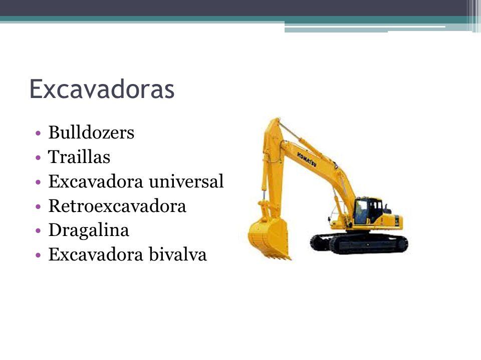 Excavadoras Bulldozers Traillas Excavadora universal Retroexcavadora Dragalina Excavadora bivalva