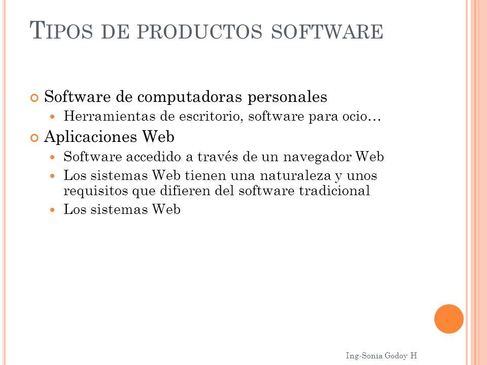 Software de computadoras personales Herramientas de escritorio, software para ocio… Aplicaciones Web Software accedido a través de un navegador Web Lo