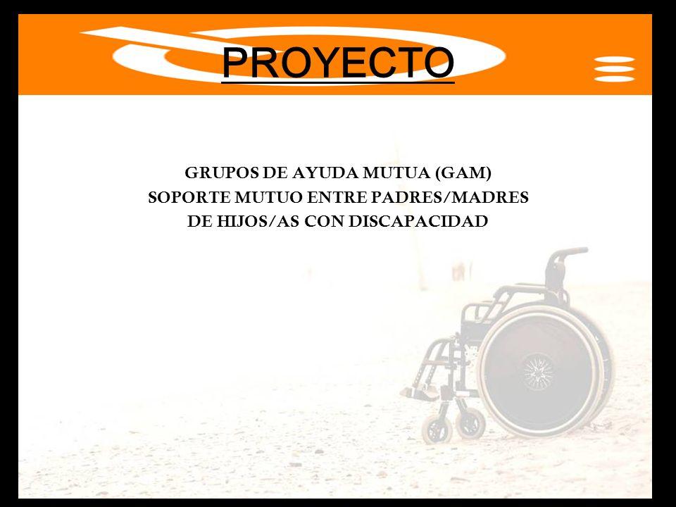 PROYECTO GRUPOS DE AYUDA MUTUA (GAM) SOPORTE MUTUO ENTRE PADRES/MADRES DE HIJOS/AS CON DISCAPACIDAD