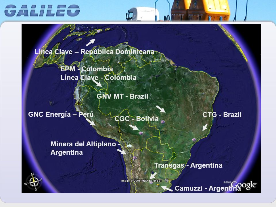 CGC - Bolivia GNV MT - Brazil CTG - Brazil Transgas - Argentina Camuzzi - Argentina Minera del Altiplano - Argentina Línea Clave – República Dominican