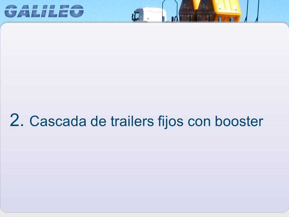 2. Cascada de trailers fijos con booster