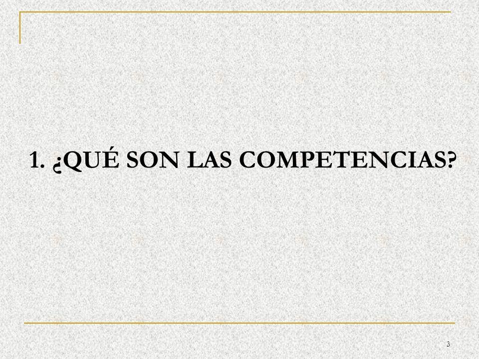 14 RASGOS DIFERENCIALES DE LAS COMPETENCIAS BÁSICAS Son conocimiento en acción.