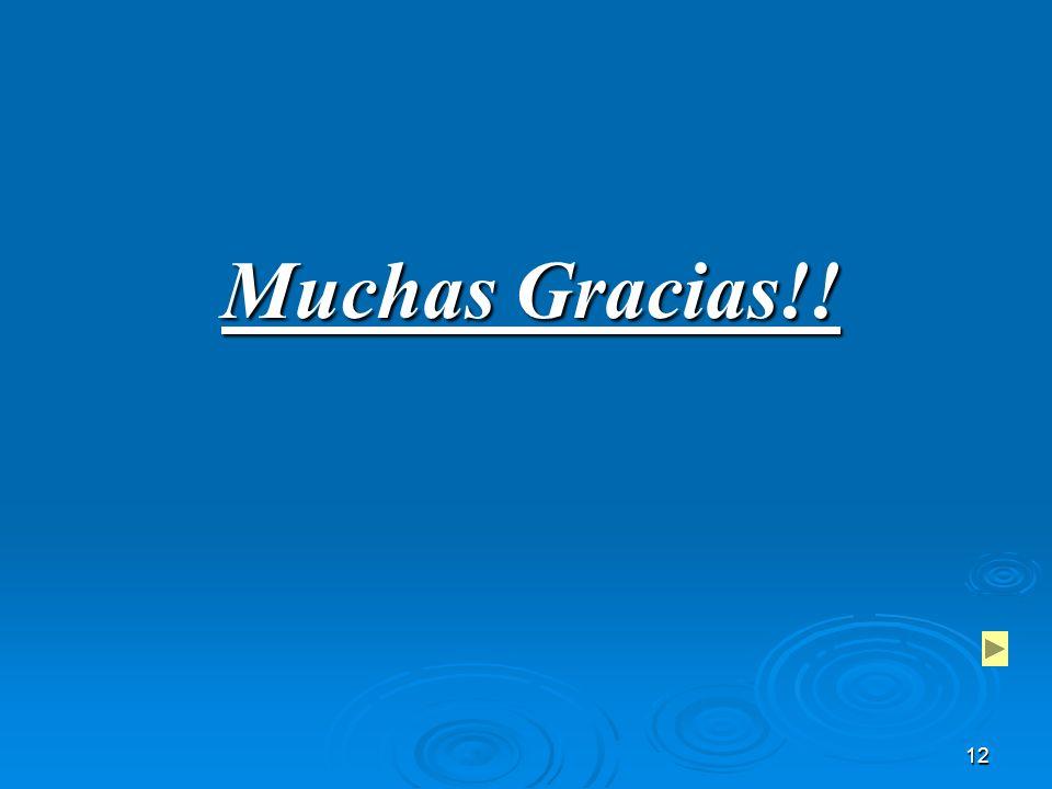 12 Muchas Gracias!!