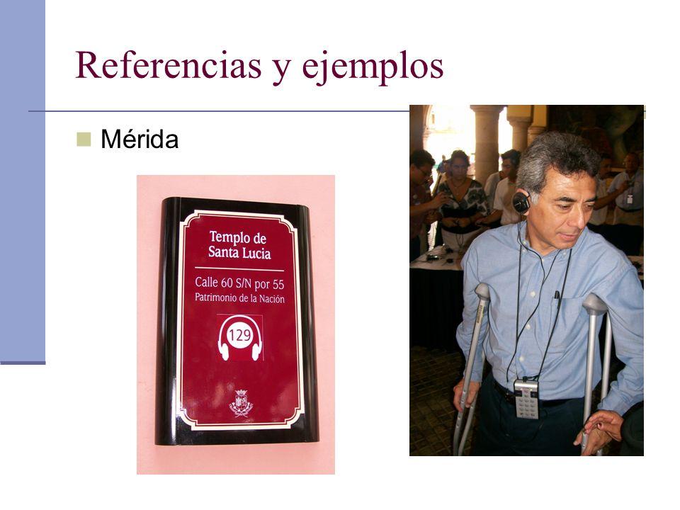 Referencias y ejemplos Mérida
