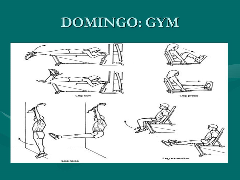 DOMINGO: GYM