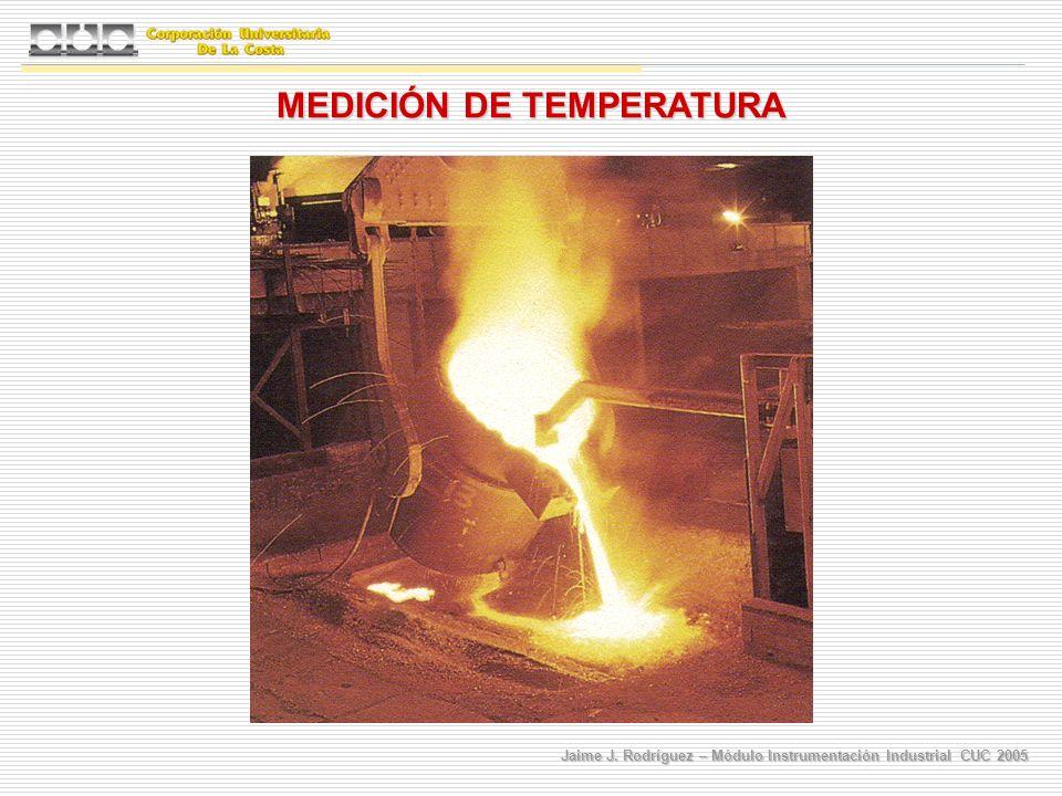 Jaime J. Rodríguez – Módulo Instrumentación Industrial CUC 2005 MEDICIÓN DE TEMPERATURA