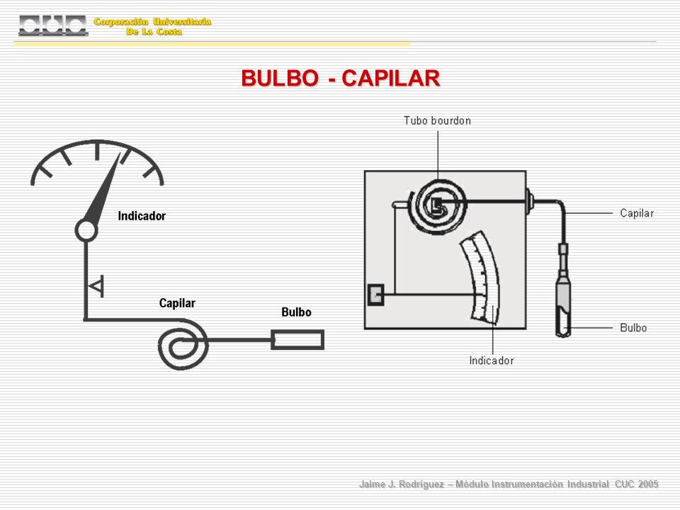 Jaime J. Rodríguez – Módulo Instrumentación Industrial CUC 2005 BULBO - CAPILAR