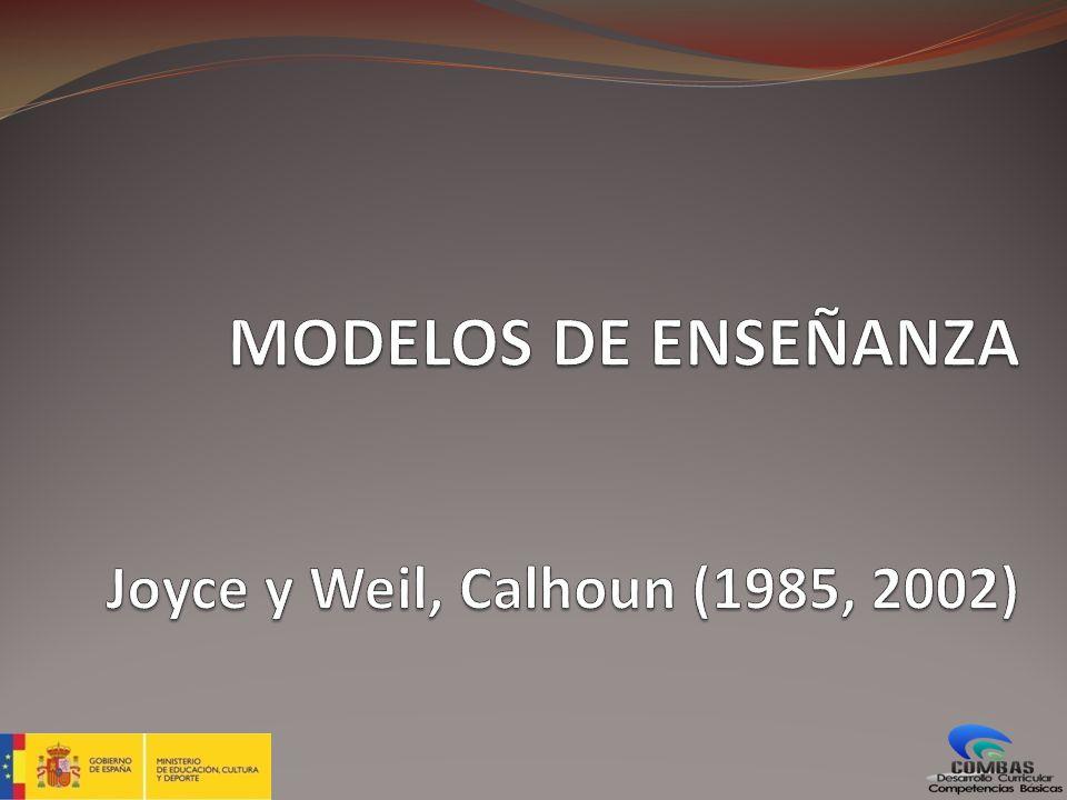 MODELO DE ENSEÑANZA Los modelos de enseñanza son modelos de aprendizaje.