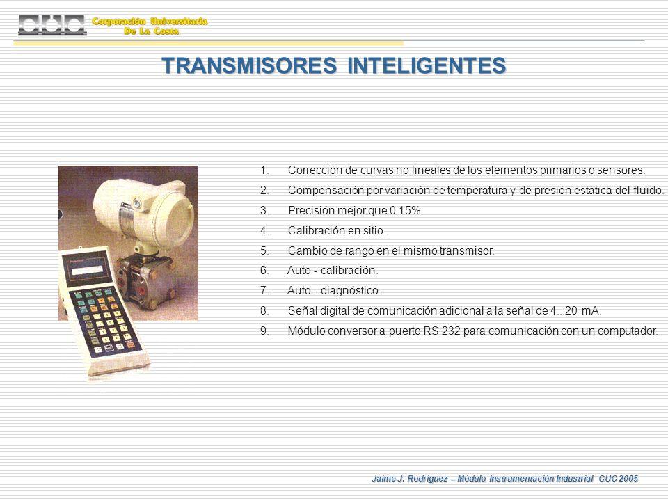 Jaime J. Rodríguez – Módulo Instrumentación Industrial CUC 2005 TRANSMISORES INTELIGENTES 1. Corrección de curvas no lineales de los elementos primari
