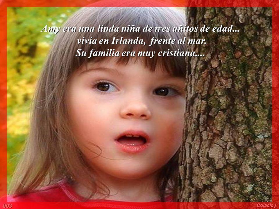 Amy era una linda niña de tres añitos de edad...vivía en Irlanda, frente al mar.