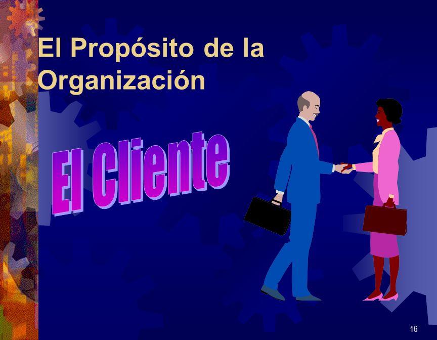 El Propósito de la Organización 16