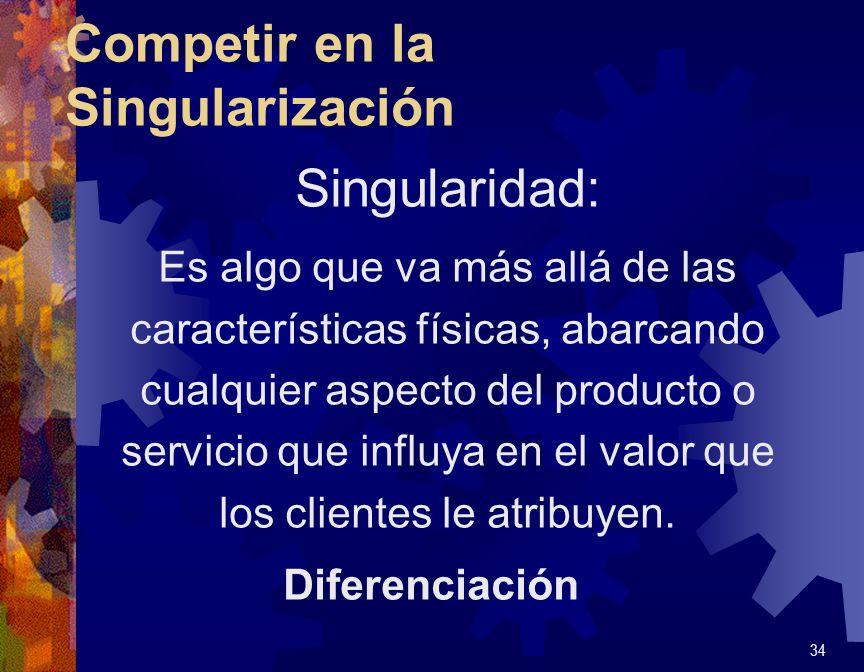 Competir en el Costo Q La primacía del bajo costo: la mayor ventaja desde el punto de vista del cliente.