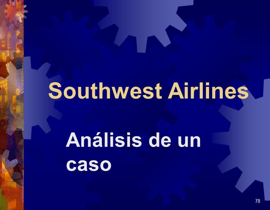 Southwest Airlines 79 Servicio de pasajeros educado, pero limitado.