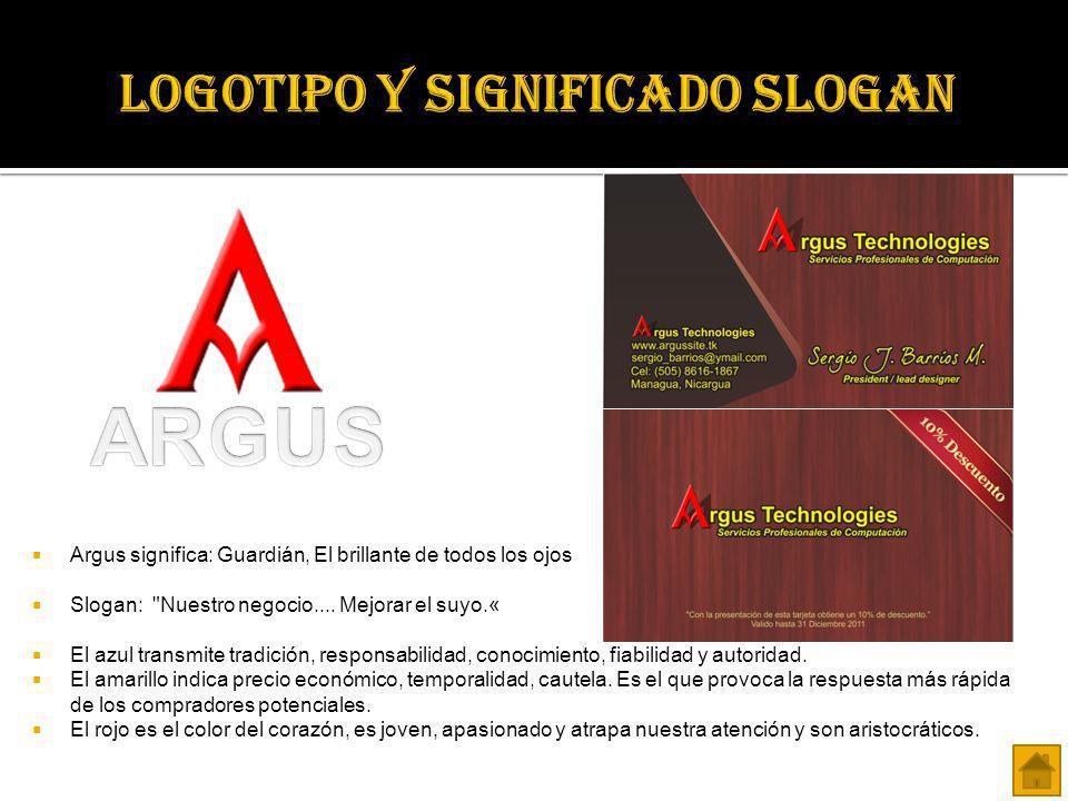 Argus significa: Guardián, El brillante de todos los ojos Slogan: