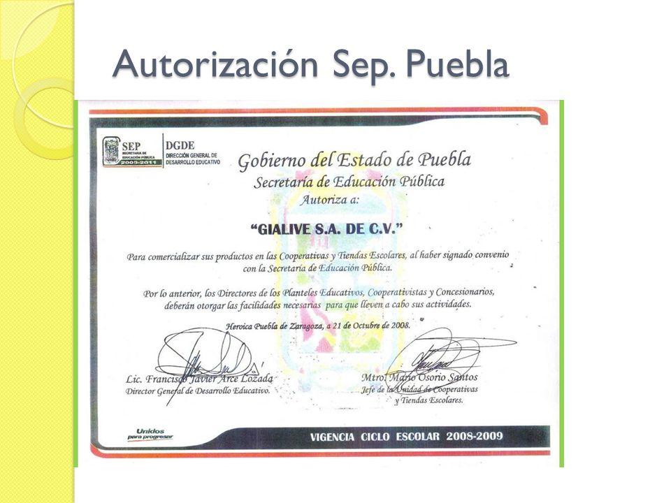 Autorización Sep. Puebla