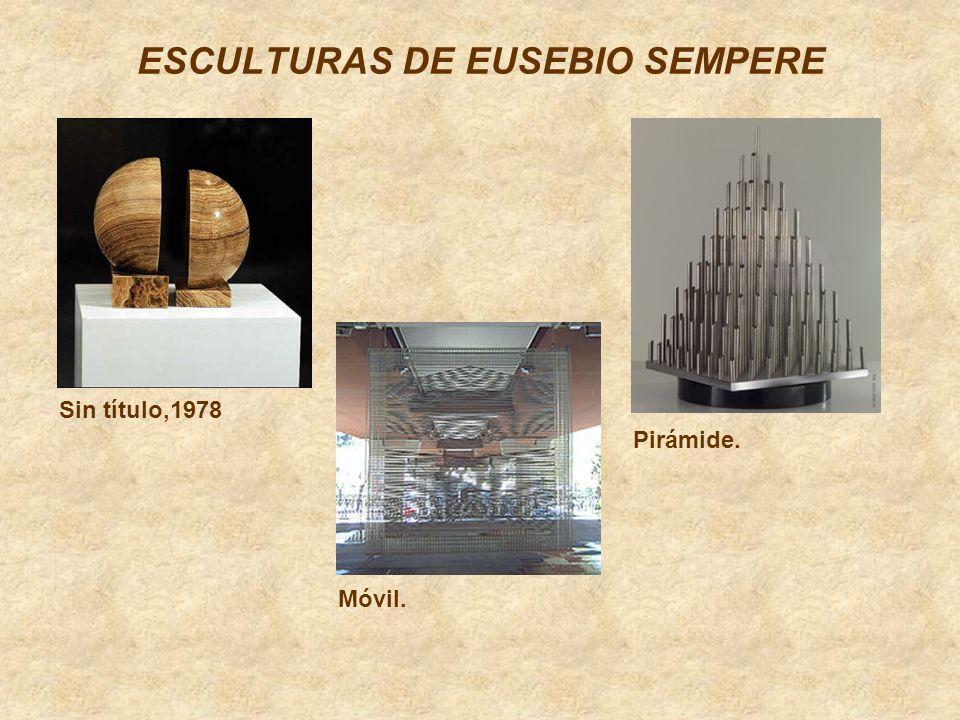 ESCULTURAS DE EUSEBIO SEMPERE Sin título,1978 Móvil. Pirámide.