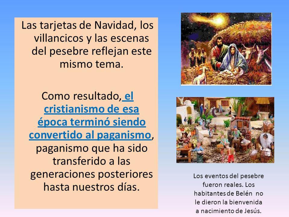 Las tarjetas de Navidad, los villancicos y las escenas del pesebre reflejan este mismo tema. Como resultado, el cristianismo de esa época terminó sien