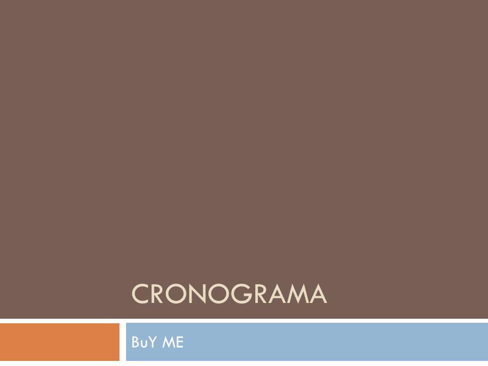 CRONOGRAMA BuY ME