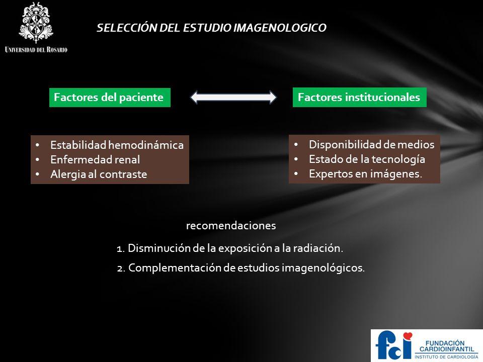 LOGO Recomendaciones especificas Sobre abordaje imagenológico 1.