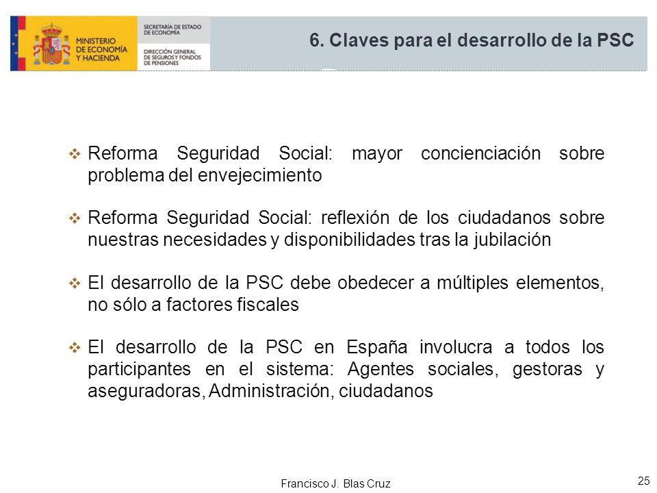 Francisco J. Blas Cruz 25 Reforma Seguridad Social: mayor concienciación sobre problema del envejecimiento Reforma Seguridad Social: reflexión de los
