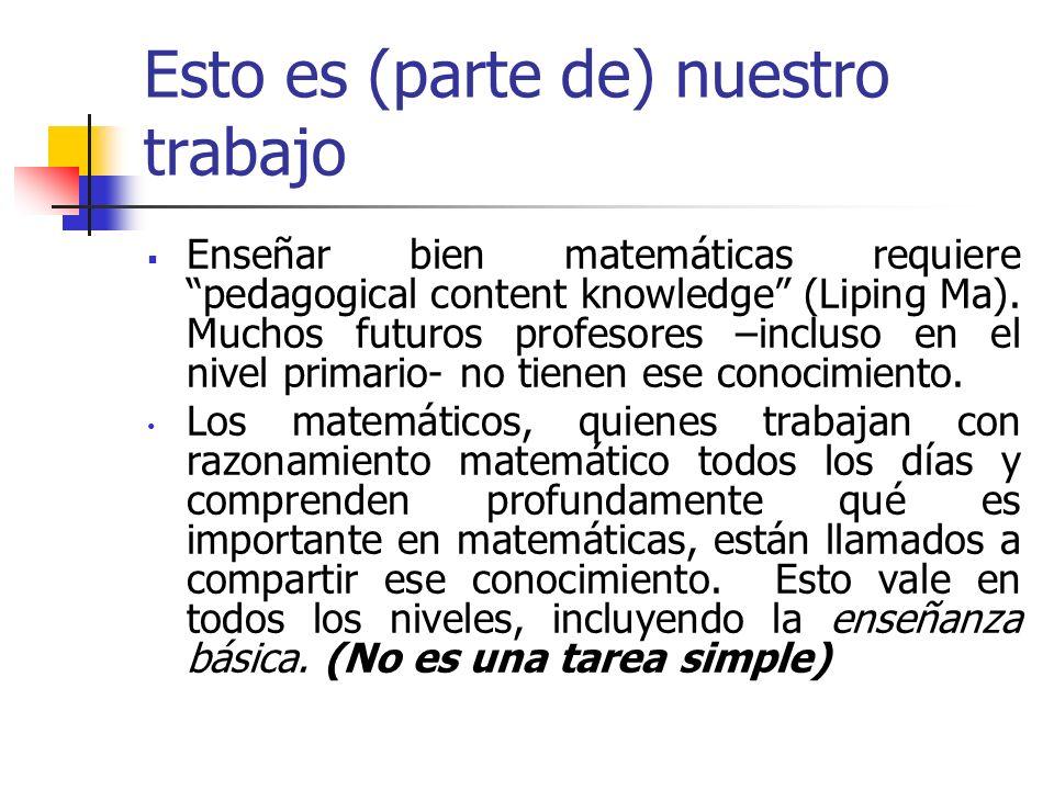 5.Desplazarse por varios niveles de abstracción: desde los palotes a los números romanos, al valor posicional, a la notación científica; de los números a las variables (una abstracción central del álgebra), a funciones.