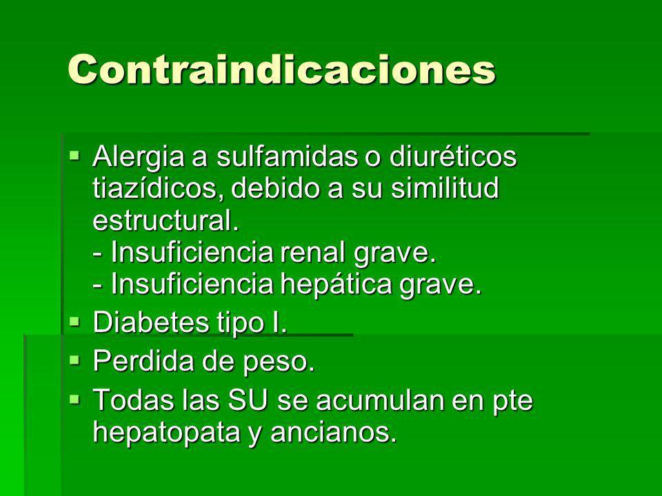 Efectos adversos Efectos adversos - Otros: neumonitis, hipotiroidismo subclínico transitorio, aumento de peso. La clorpropamida puede producir rubor f