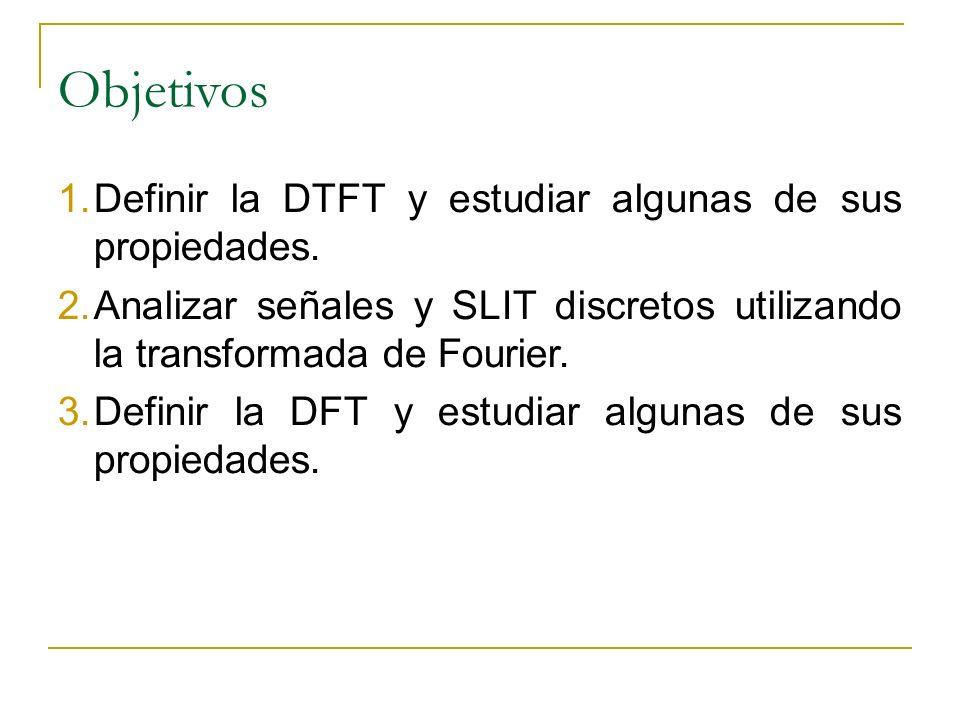 Propiedades de la Transformada de fourier en tiempo discreto DTFT Periodicidad Linealidad: Desplazamiento de tiempo: