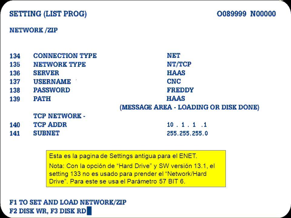 DIFFERENTES SISTEMAS Solamente con ENET. HD/ZIP –TCP Avanzado (Setting Opcional) Permite poner clave para proteger el Disco Duro. Permite poner nombre