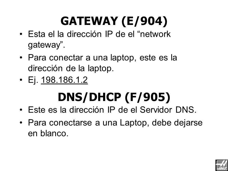 TCP/IP ADDRESS (C/902) Como se usa en una red Microsoft TCP/IP LAN DEBE DE SER UNA DIRECCION DE TCP/IP UNICA Ej. 198.186.1.3 Este es el Subnet Mask pa