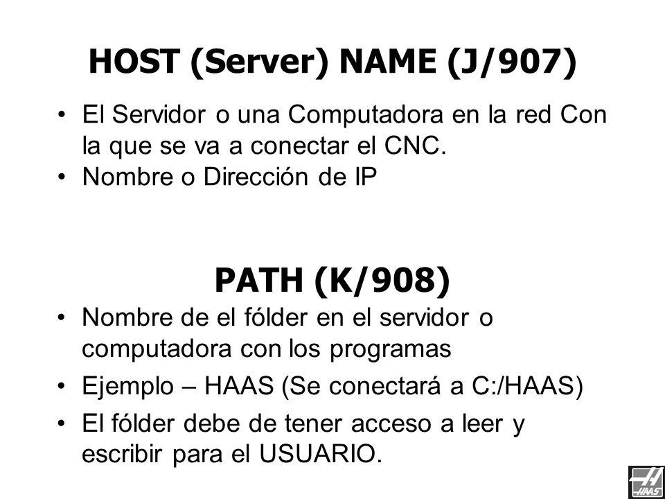 DOMAIN/WORK (H/906) Este es el nombre de el Domain (la red) o Workgroup Para conectarse a una Laptop, debe dejarse en blanco. El nombre de el DOMAIN (
