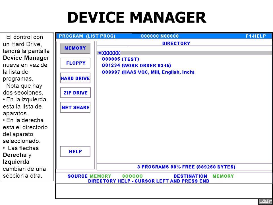 Ejemplo de los settings para conectar el laptop con el control, SW 16