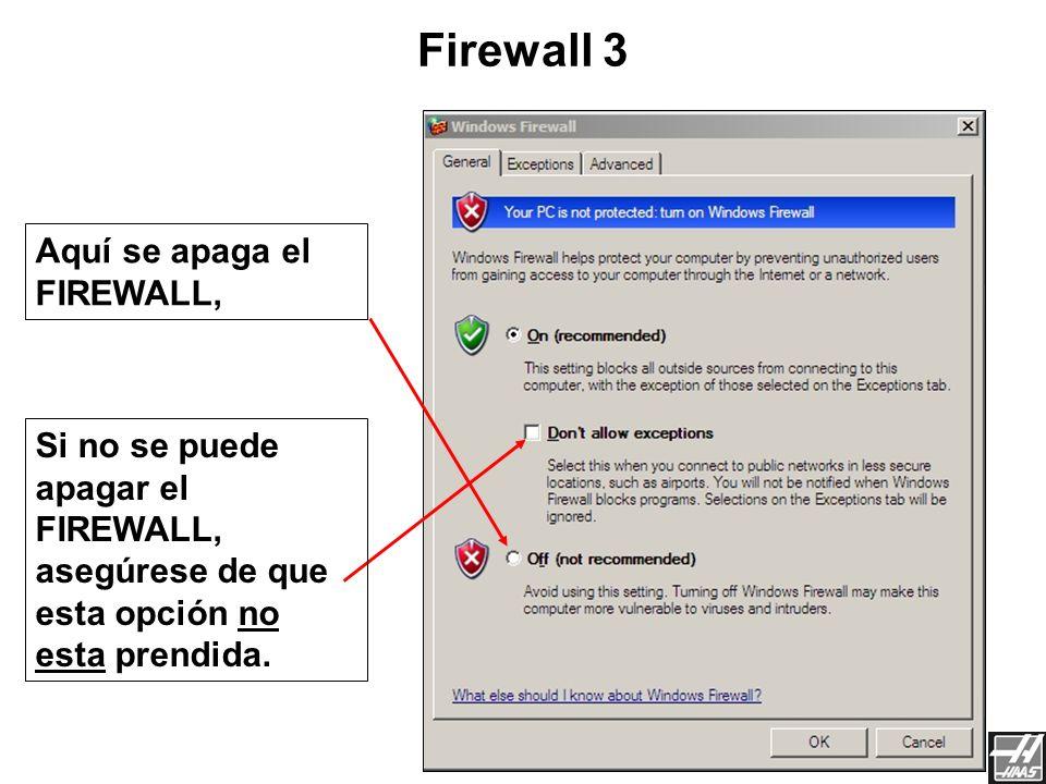 Para continuar, Doble-click Settings Firewall 2