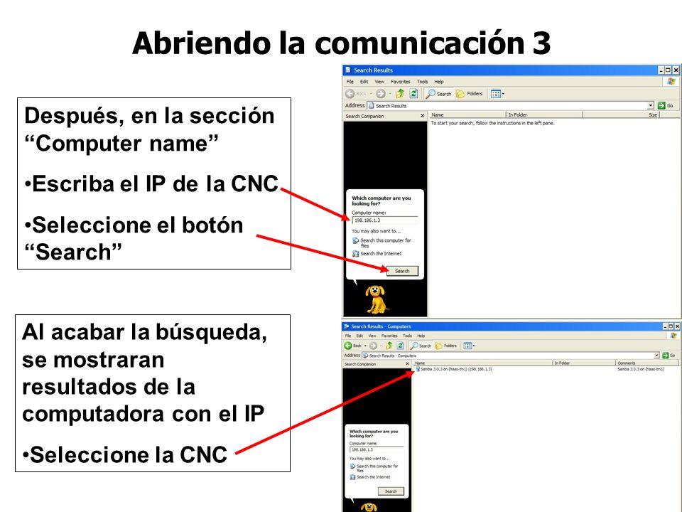 Cuando se abra la siguiente pantalla, Seleccione el Computers or people Abriendo la comunicación 2 Cuando se abra la siguiente pantalla, Seleccione el