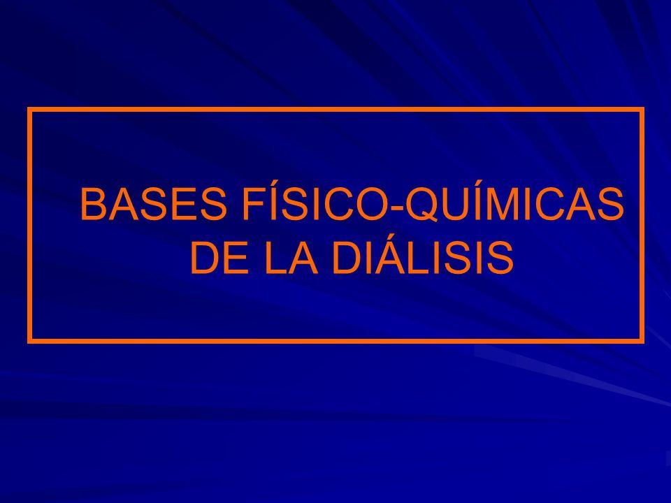 BASES FÍSICO-QUÍMICAS DE LA DIÁLISIS