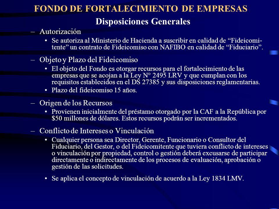 Disposiciones Generales –Autorización Se autoriza al Ministerio de Hacienda a suscribir en calidad de Fideicomi- tente un contrato de Fideicomiso con