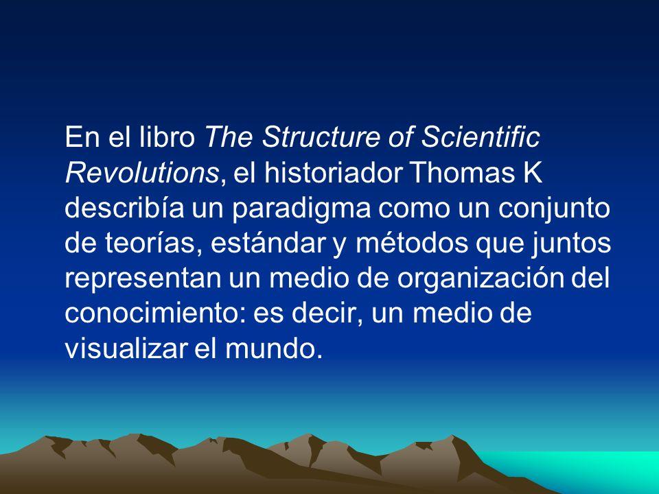 En el libro The Structure of Scientific Revolutions, el historiador Thomas K describía un paradigma como un conjunto de teorías, estándar y métodos qu
