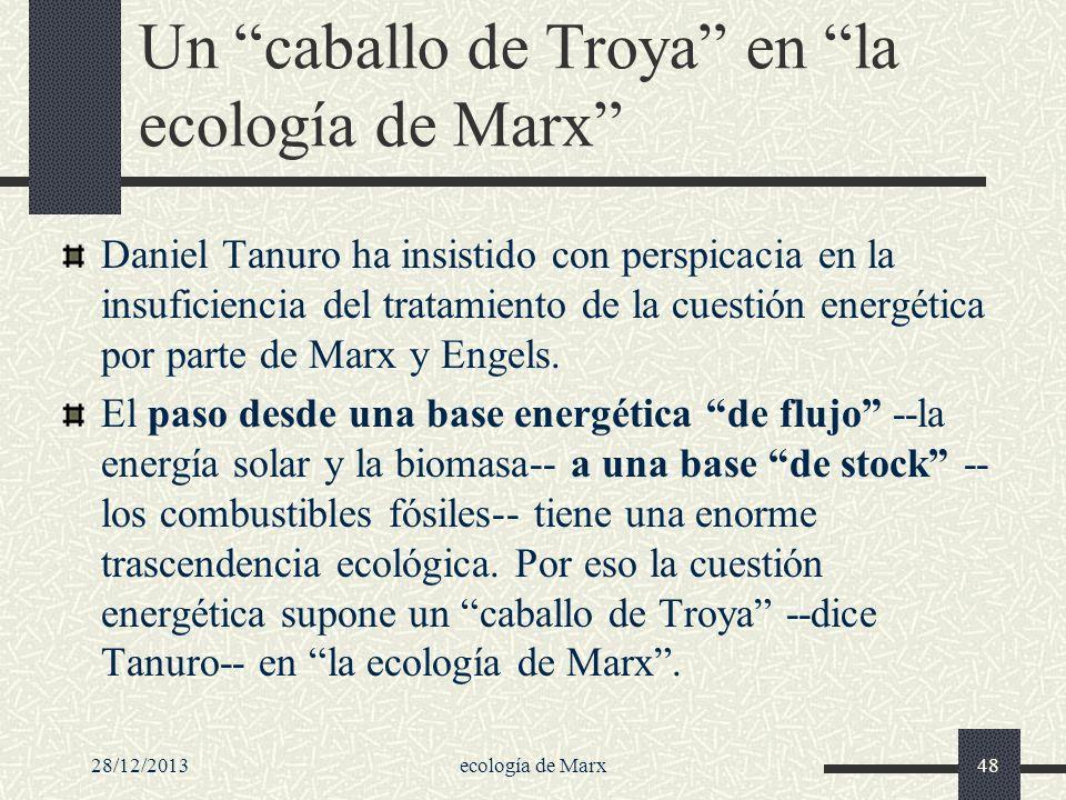 28/12/2013ecología de Marx48 Un caballo de Troya en la ecología de Marx Daniel Tanuro ha insistido con perspicacia en la insuficiencia del tratamiento