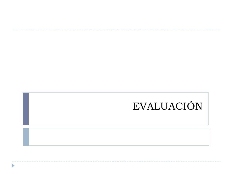 ¿Qué es evaluación.
